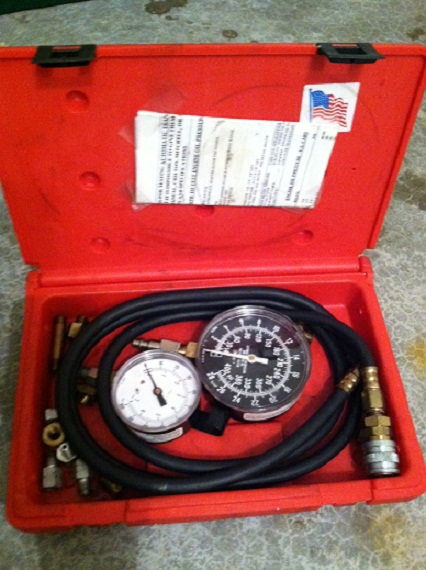 engine and transmission oil pressure tester set